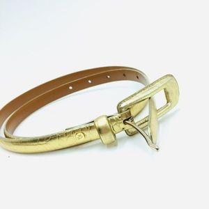 Ralph Lauren Gold Leather Belt